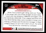 2009 Topps #401  Tony La Russa  Back Thumbnail