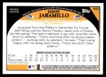 2009 Topps #482  Jason Jaramillo  Back Thumbnail
