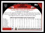2009 Topps #483  John Lannan  Back Thumbnail