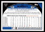 2009 Topps #630  A.J. Burnett  Back Thumbnail