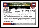 2008 Topps #99  David Ortiz / Manny Ramirez  Back Thumbnail