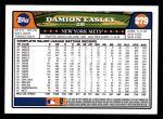 2008 Topps #279  Damion Easley  Back Thumbnail