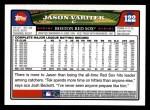 2008 Topps #122  Jason Varitek  Back Thumbnail