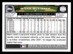 2008 Topps #224  Mark Buehrle  Back Thumbnail