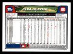 2008 Topps #600  Tom Glavine  Back Thumbnail