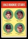 1963 Topps #386   -  Ed Kirkpatrick / John Bateman / Garry Roggenburk / Larry Bearnarth Rookie Stars Front Thumbnail