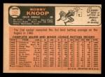 1966 Topps #280  Bobby Knoop  Back Thumbnail