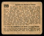 1938 Horrors of War #199   Japanese are Blasted at Yihsein Back Thumbnail