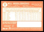 2013 Topps Heritage #60  Will Middlebrooks  Back Thumbnail