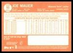 2013 Topps Heritage #90 A Joe Mauer  Back Thumbnail