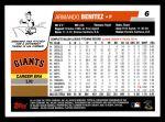 2006 Topps #6  Armando Benitez  Back Thumbnail