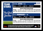2006 Topps #326   -  Derek Jeter / Alex Rodriguez Yankees Team Stars Back Thumbnail