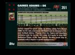 2007 Topps #351  Gaines Adams  Back Thumbnail