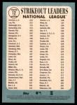 2014 Topps Heritage #12   -  Jeff Samardzija / Clayton Kershaw / Cliff Lee NL Strikeout Leaders Back Thumbnail