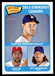 2014 Topps Heritage #12   -  Jeff Samardzija / Clayton Kershaw / Cliff Lee NL Strikeout Leaders Front Thumbnail