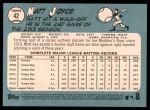 2014 Topps Heritage #42  Matt Joyce  Back Thumbnail
