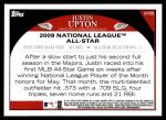 2009 Topps Update #38  Justin Upton  Back Thumbnail