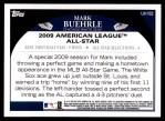 2009 Topps Update #182  Mark Buehrle  Back Thumbnail