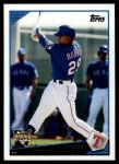 2009 Topps Update #167  Julio Borbon  Front Thumbnail