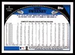 2009 Topps Update #234  Mike Sweeney  Back Thumbnail