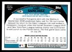 2009 Topps Update #278  Gaby Sanchez  Back Thumbnail