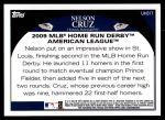 2009 Topps Update #317  Nelson Cruz  Back Thumbnail