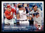 2015 Topps #98   -  Mike Trout / Miguel Cabrera / Nelson Cruz AL RBI Leaders Front Thumbnail