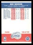 1987 Fleer #128  Mike Woodson  Back Thumbnail
