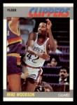 1987 Fleer #128  Mike Woodson  Front Thumbnail