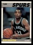 1987 Fleer #93  Alvin Robertson  Front Thumbnail