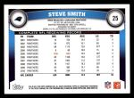 2011 Topps #25  Steve Smith  Back Thumbnail