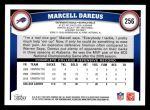 2011 Topps #256  Marcell Dareus  Back Thumbnail