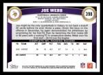 2011 Topps #398  Joe Webb  Back Thumbnail