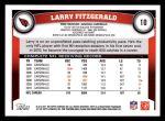 2011 Topps #10  Larry Fitzgerald  Back Thumbnail