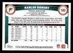 2011 Topps #103  Karlos Dansby  Back Thumbnail