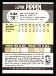 1990 Fleer #30  Scottie Pippen  Back Thumbnail