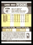 1990 Fleer #43  Sam Perkins  Back Thumbnail