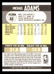 1990 Fleer #46  Michael Adams  Back Thumbnail