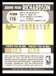 1990 Fleer #116  Pooh Richardson  Back Thumbnail