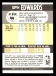1990 Fleer #99  Kevin Edwards  Back Thumbnail