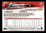 2018 Topps #300 A Mike Trout  Back Thumbnail
