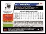 2006 Topps Update #49  Kelly Shoppach  Back Thumbnail