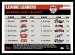 2006 Topps Update #215   -  Roy Oswalt / Chris Carpenter / Brandon Webb NL ERA Leaders Back Thumbnail