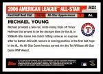 2006 Topps Update #252   -  Michael Young All-Star Back Thumbnail