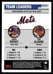 2006 Topps Update #291   -  David Wright / Tom Glavine Mets Leaders Back Thumbnail