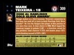 2007 Topps #309   -  Mark Teixeira Golden Glove Back Thumbnail