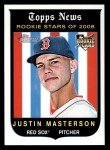 2008 Topps Heritage #545  Justin Masterson  Front Thumbnail