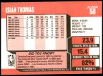 1989 Fleer #50  Isiah Thomas  Back Thumbnail