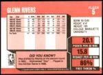 1989 Fleer #5  Doc Rivers  Back Thumbnail