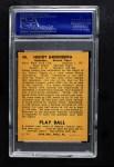 1940 Play Ball #40  Hank Greenberg  Back Thumbnail